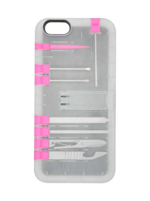 Multi-Tool Utility case - Clear case/Pink tools
