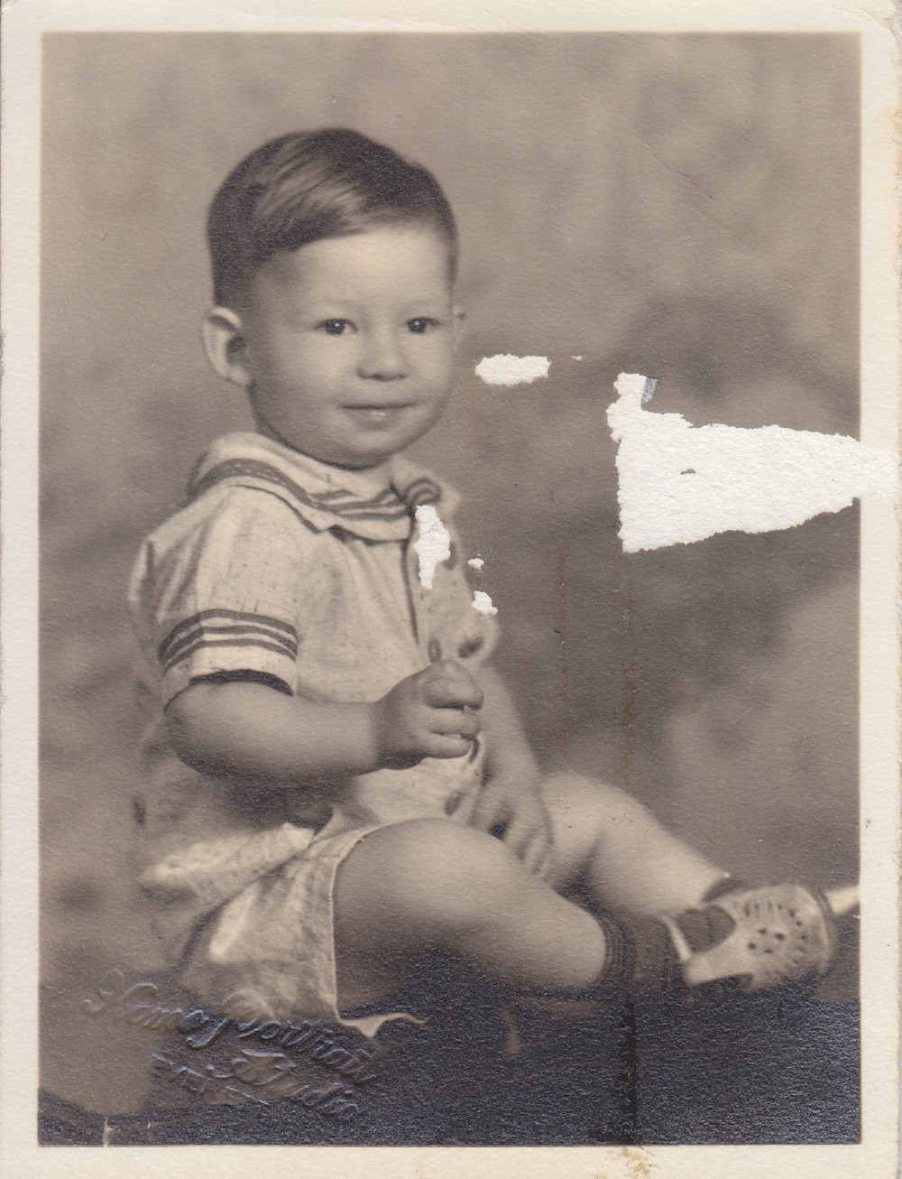 Love to Auntie Jean from Arthur Val. I was almost 2 yrs. old when this was taken. -