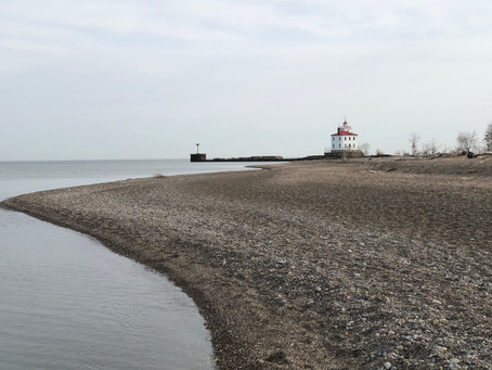 Walking to the Lighthouse in Spring
