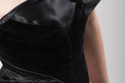 Black Satin and Velvet Bustier