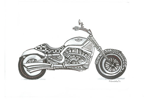 Swirly Tire Motorcycle