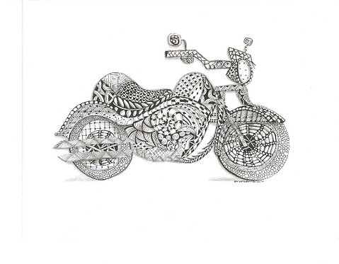 Detailed Motorcycle