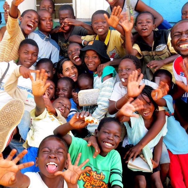 Sara Chehrehsa with happy participants from SWB Uganda