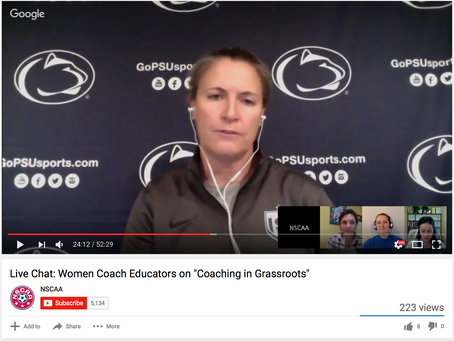 """NSCAA Live chat: """"Coaching in Grassroots"""""""