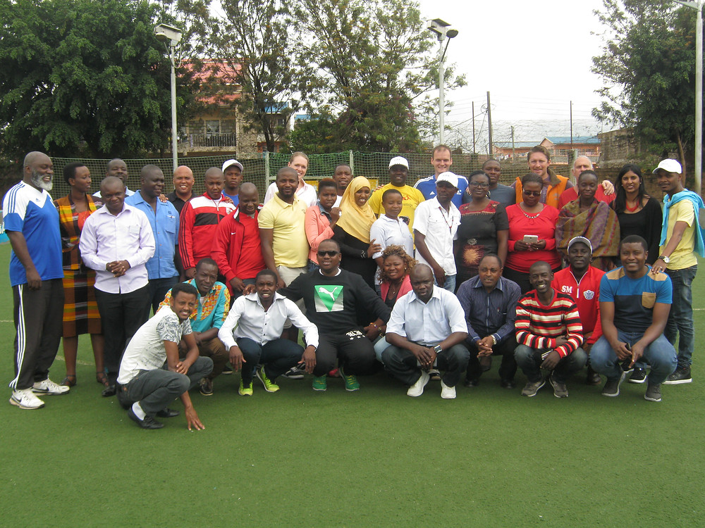 Coach Junior and the fellow streetfootballworld Network members