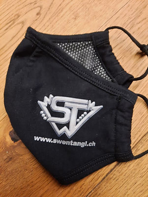 Gesichtsmaske mit Logo