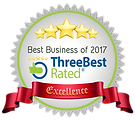 Rosette for winnin Best Businss of 2017 by Three Best Rated
