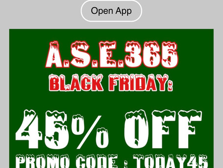 45% OFF - BLACK FRIDAY EXTENDED THROUGH 12/27