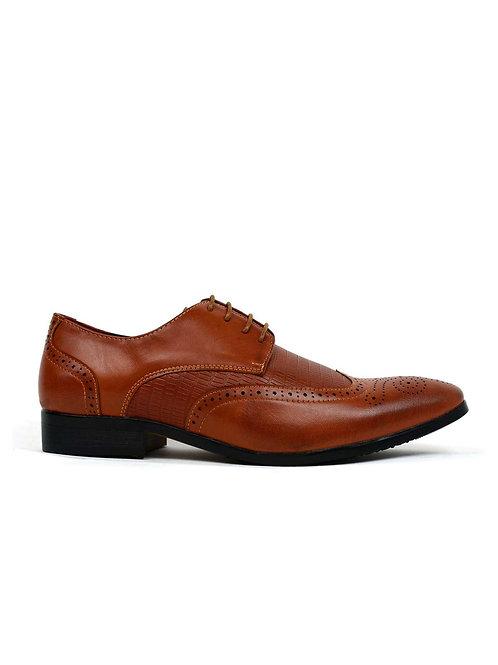Men's Formal Brogue Shoes Tan Matt
