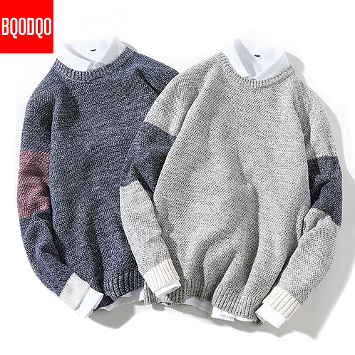 Knitted Winter Casual Sweater Streetwear Pullover Sweaters PLUS SIZE Fashion