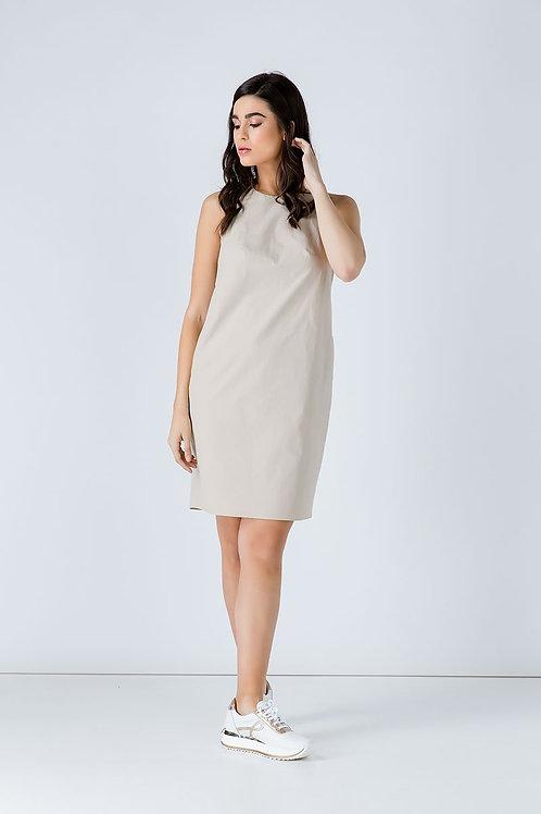 Sand Colour Cotton Sack Dress