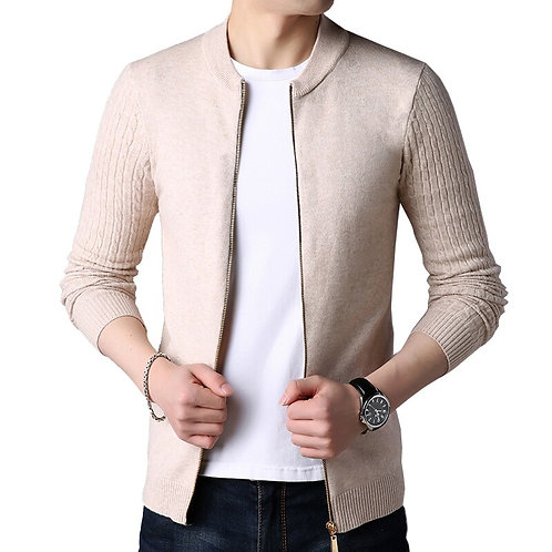 Knitted Cardigan Men Sweater Cardigan Sweater Men's Slim  Jacket Cardigan