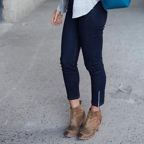 Women's Cropped Ankle Zip Jean