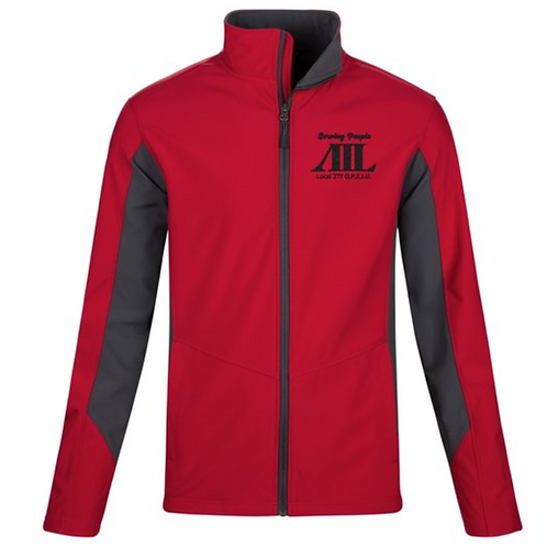 Core Colorblock Soft Shell Jacket - Embroidered