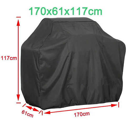 Black BBQ Cover Outdoor Dust Waterproof Weber Heavy Duty Grill Cover Outdoor