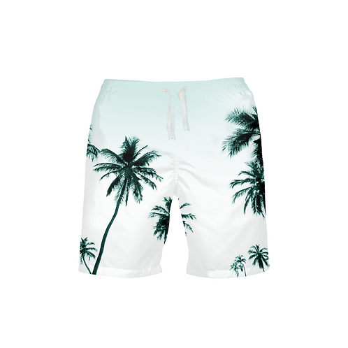 Men's Find Your Coast Palm Paradise Beach Shorts UPF 40+ W/Lining