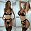 Thumbnail: Sexy Lingerie Women Lace Embroidery Halter Bra Hollow Thong Bra Set Sleepwear