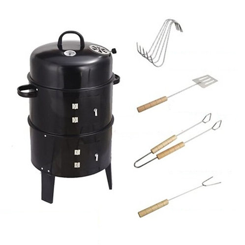 ALWAYSME 40X84CM BBQ Vertical Smoker Grill for Outdoor Cooking Grilling