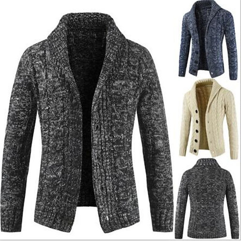Jackets Tops Winter Slim Fit Lapel Button Sweaters Cardigan