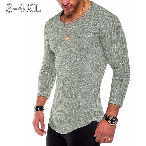 Slim Fit Sweater Men Thin O-Neck Knitted Pullover Men Casual Solid Mens Sweater