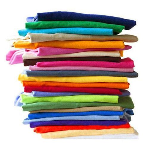 Solid Color T Shirt Wholesale Men Women Cotton T-Shirts  Plain Fashion Tops Tees