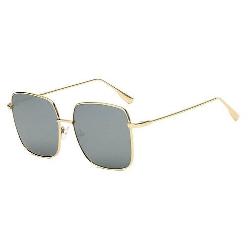 ENOCH | S2068 - Women Metal Flat Lens Square Sunglasses