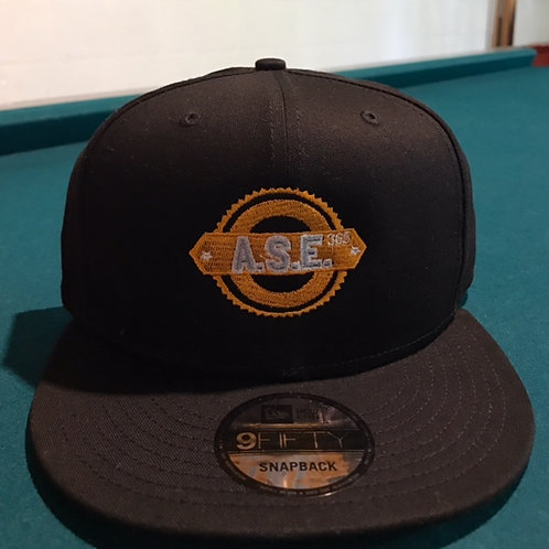 ASE365 Snapback -Black/Orange