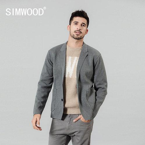 Autumn Winter New Cardigan Blazer Men Casual Knitwear Plus Size Quality Jacket