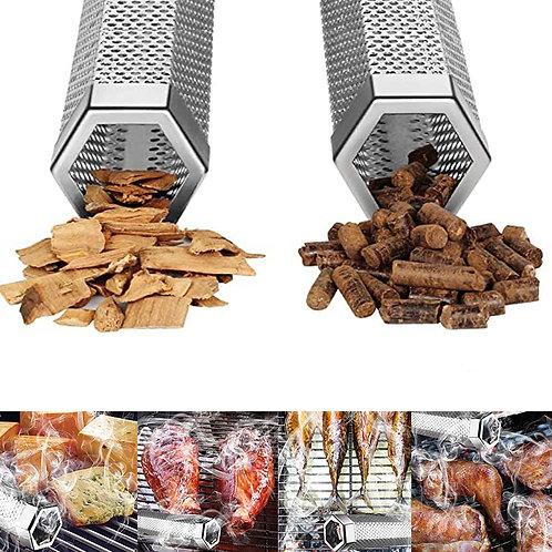12'' Hexagon BBQ Wood Pellet Tube Smoker Accessories Tools
