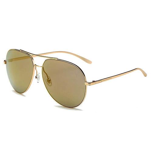 ESTERO | CD01 - Unisex Oversize Mirrored Lens Aviator Sunglasses