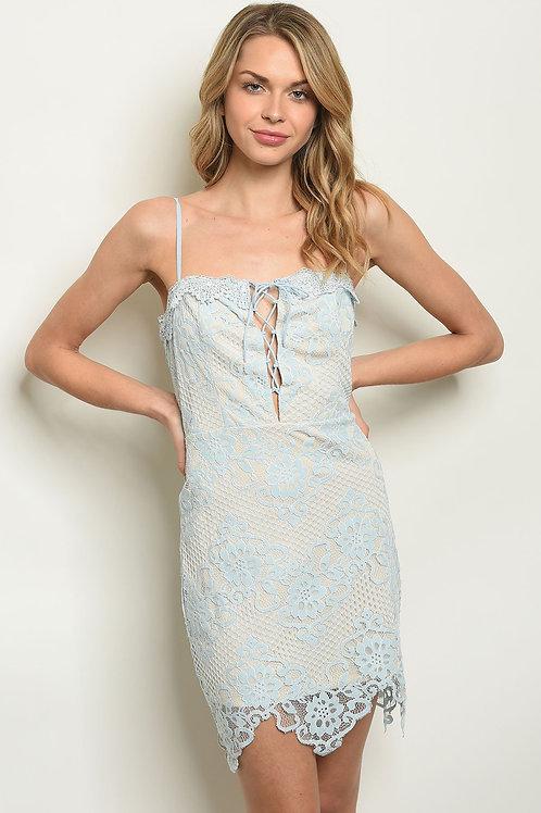 Blue Nude Dress