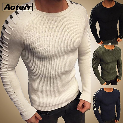 Sweater Men Pullover Men Long Sleeve O-Neck Knitted Men Sweaters Streetwear