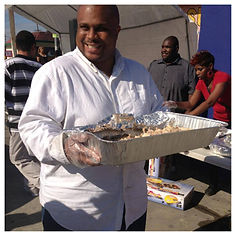 Volunteers are happy to serve the hungry