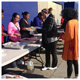 Meals are given to the hungry in Los Angeles