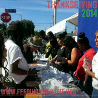 Feeding the hungry and homeless on Thanksgiving