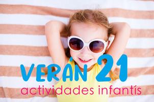 Actividades infantís deportivas e culturais verán 2021.