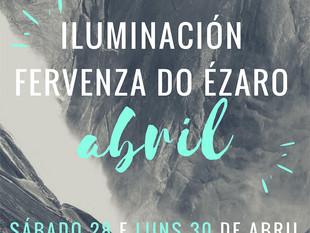 Fervenza do Ézaro, iluminación ponte de Abril - Maio 2018