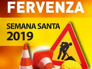 Iluminación Fervenza Semana Santa 2019.