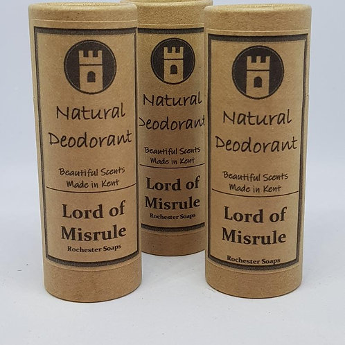 Natural Deodorant -Lord of Misrule
