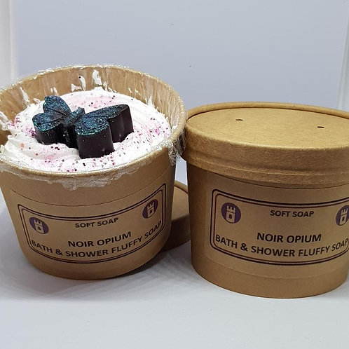Noir Opium fluffy soap