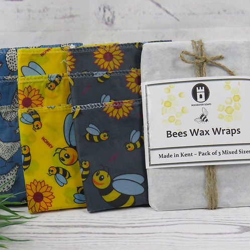 Bees Wax Wrap - 3 mixed sizes