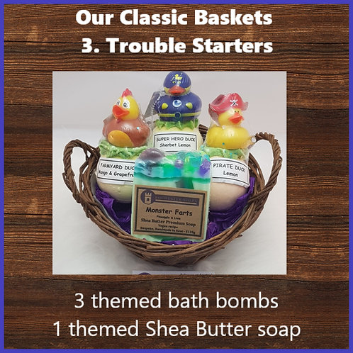 Classic Gift Basket- trouble starters