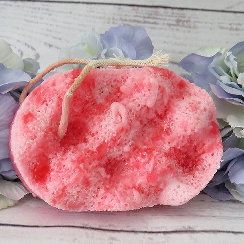 Soap infused massage sponge -Berrylicious