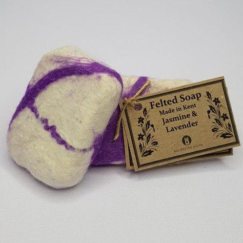 Felted Soap - Jasmine & Lavender