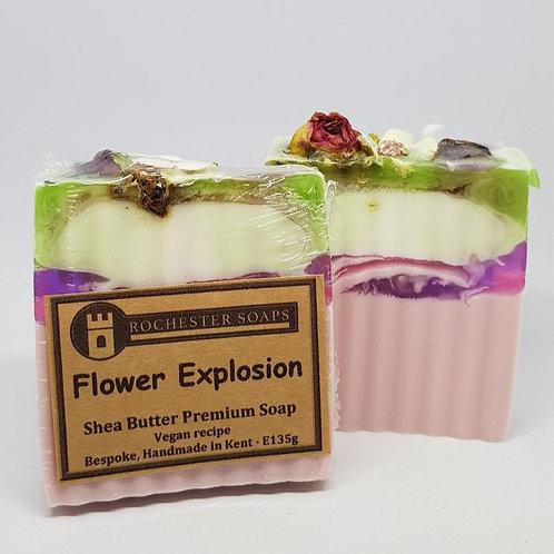 Flower explosion - shea butter soap