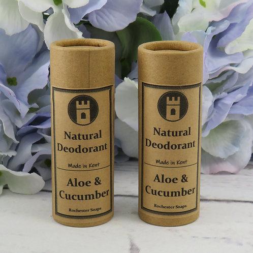 Aloe & Cucumber fragranced natural deodorant