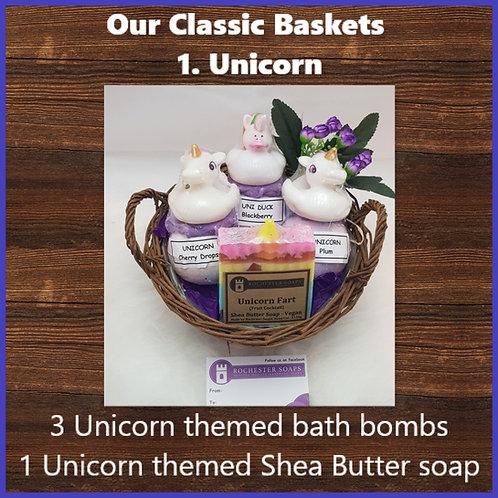 Classic Gift Basket- unicorn