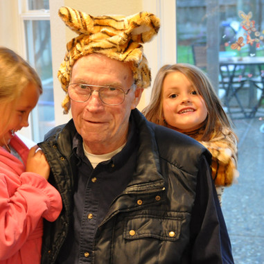 Granddaddy Tiger with Brooke and Rachel.