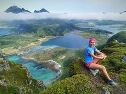 Lofoten trail running views