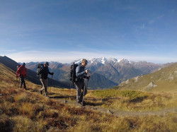 Hiking in the Alps